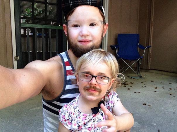 faceswap-homme et petite fille