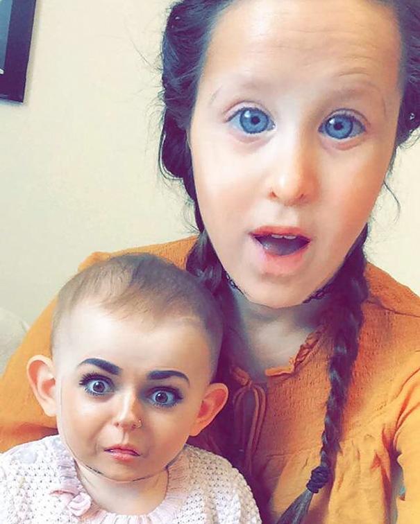 faceswap-maman et bébé
