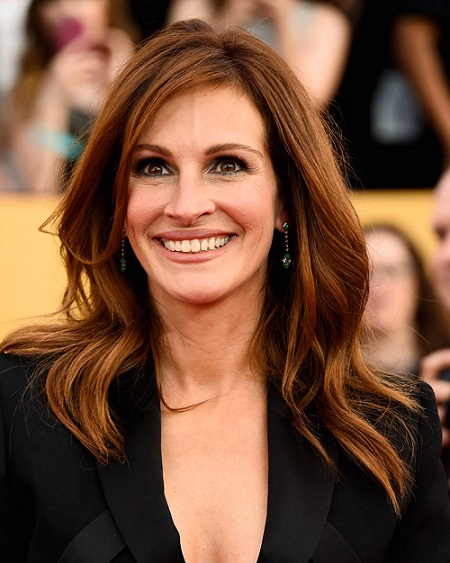 LOS ANGELES, CA - JANUARY 25: Actress Julia Roberts attends the 21st Annual Screen Actors Guild Awards at The Shrine Auditorium on January 25, 2015 in Los Angeles, California. (Photo by Frazer Harrison/Getty Images)